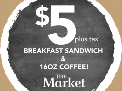 Photo for the news post: $5 Breakfast Promotion