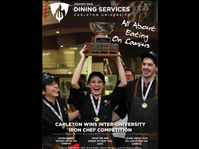 Photo for the news post: The 2020 Dining Services magazine is now available!